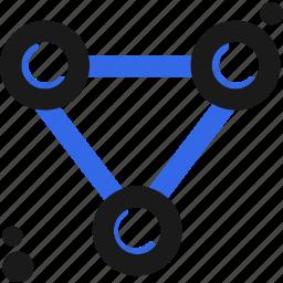 connect, molecule, structure icon