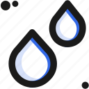 drop, liquid, rain, substance, tear, water, weather icon