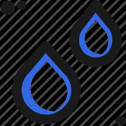 drop, liquid, rain, substance, tear, water, weather icon