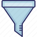 cone, filter, filtered, filtering icon