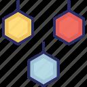 geometric pattern, hexagon shape, hexagonal pattern, hexagones icon