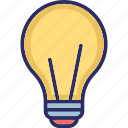 bulb, electric light, electrical bulb, energy icon