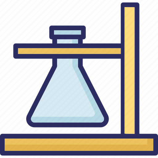 chemistry, experiment, lab flask, laboratory icon