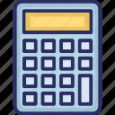 adding machine, calc, calculate, calculating machine icon
