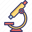 lab instrument, magnifying, medical equipment, microscope icon