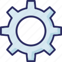 cog, cog wheel, gear, optimization icon
