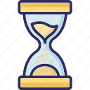 clock, egg timer, hourglass, sand glass icon