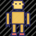 bionic robot, advanced technology, mechanical person, mechanical man icon