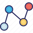 connection, fabrication, molecular conceptualization, molecular configuration icon