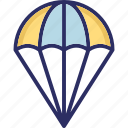 air balloon, hot air balloon, parachute, parachute balloon icon