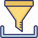 cone, filter, filtering, funnel icon