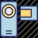 camcorder, device, handycam, video camera icon