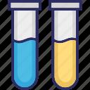 culture tube, lab glassware, sample tube, test tube icon