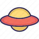 aircraft, alien spaceship, flying saucer, science icon