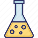 conical flask, elementary flask, erlenmeyer flask, lab flask icon