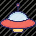 aircraft, alien spaceship, science, spacecraft icon