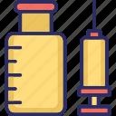 injection, inoculation, intravenous, intravenous antibiotics icon