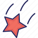 astronomy, falling star, night, shooting star icon
