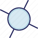 atom, biology, compound, molecular configuration icon