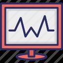 electrocardiogram, heartbeat, heartbeat screen, lifeline icon