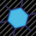 atom, biology, compound, molecular icon