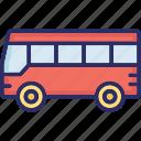 automobile, bus, journey, school mobile icon