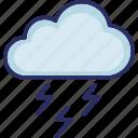 climate, cloud, thunder, thunder storm icon