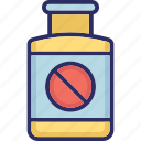 medical treatment, medication, medicine jar icon