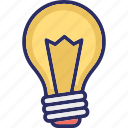 bright light bulb, bulb, idea, innovation icon