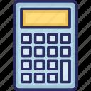accounting, adding machine, calc, calculating machine icon