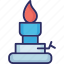 burning candle, candle, candle flame, church candle icon