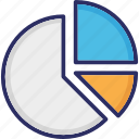 analytics, chart, graph, pie chart icon
