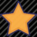 bookmark star, favourite, ranking star, star icon