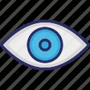 eye, human eye, ophthalmologists, optometrists icon