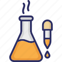 chemical dropper, dropper, lab test, laboratory tool icon