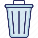 basket, bucket, dustbin, garbage can icon