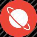 exploration, orbit, planet, saturn icon