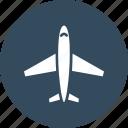 aeroplane, airbus, airplane, flight icon