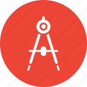 compass, design element, divider, drawing icon