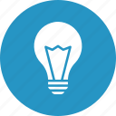 bright, bulb, electricity, idea icon