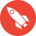 exploration, missile, rocket, science icon