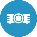 ceremonial, digital equipment, lens, movie projector icon