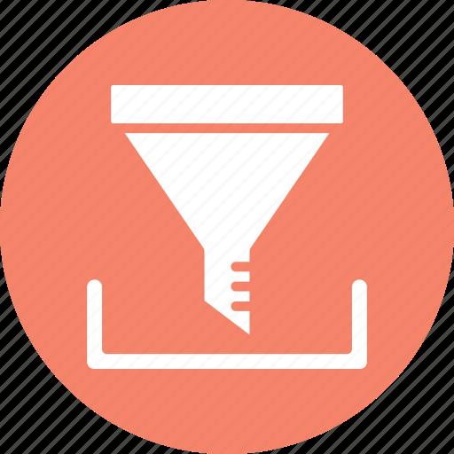 cone, filter, filtering, funnel icon