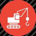bulldozer, construction machinery, excavator, heavy equipment icon