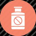 medication, medical treatment, medicine jar icon