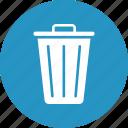 basket, bucket, dustbin, garbage can icon