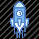 rocket, ship, space, transport icon
