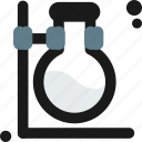 bottom, experimental, flask, lab, measure, round, test icon