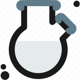 distilling, experiments, lab, laboratory, science, substance, two-neck icon