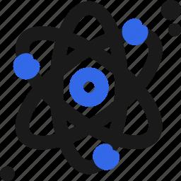 atom, electron, neutron, phisics, proton icon